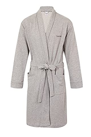 Calvin Klein Mens Luxury Robe in Grey Heather Small/Medium or Large/XLarge