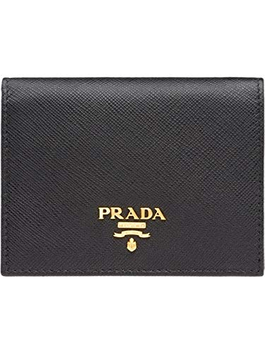 Prada luxury fashion donna 1mv204qwaf0002 nero portafoglio | stagione permanente