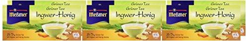 Messmer Grüner Tee Ingwer-Honig 25 Beutel, 6er Pack (6 x 43,75 g)