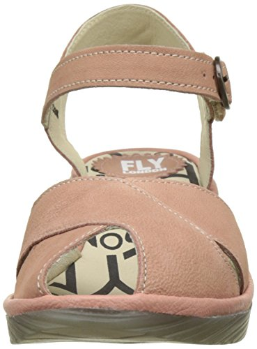 FLY London Pero706, Sandales Bout Ouvert Femme Rose (Rose/Rose 013)