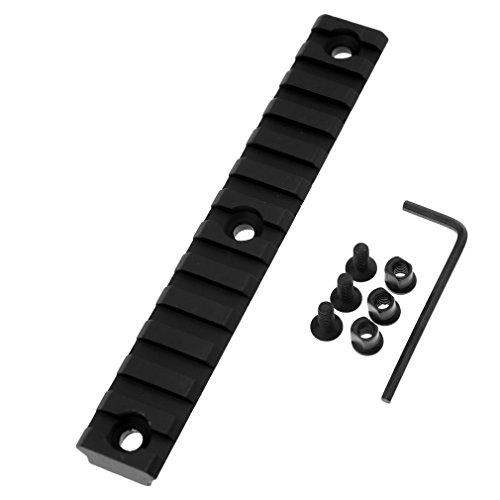 13 Slot Jagd Picatinny Weaverschiene Für Keymod Montage 135mm x 9mm x 20mm (Schiene Feste Licht)