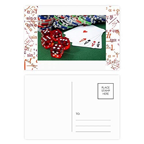 Chip Poker Würfel Glücksspiel Foto Formel Postkarten-Set Dankeskarte Postkarte Seite Postkarte Karte Postkarte Karte Karte Postkarte Karte Karte (Würfel-glücksspiel)
