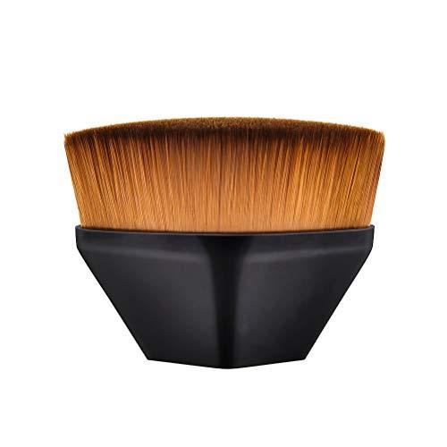 Poignée en plastique portative Nylon poils de maquillage brosse poudre cosmétique brosse visage Fondation Blush avec cas de stockage