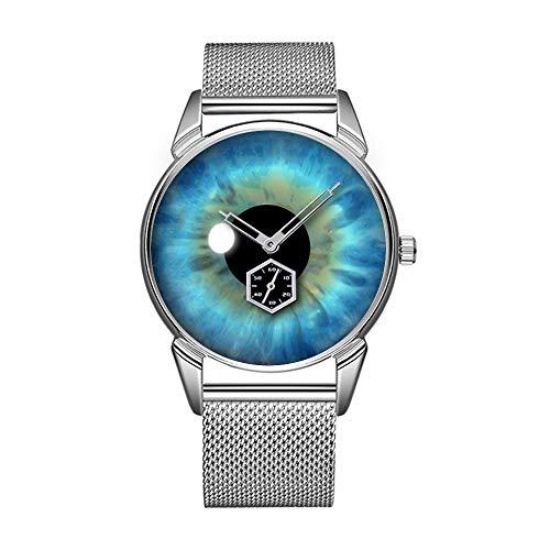 Mode wasserdicht Uhr minimalistischen Persönlichkeit Muster Uhr -190. Coole Blaue Augen IRIS Eyeball Custom Armband Uhr - Augen-iris