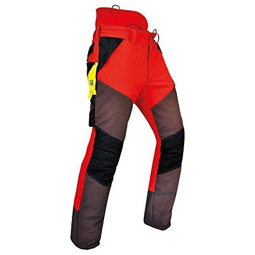 Pfanner Schnittschutzhose Kev-Extrem Klasse 1, Farbe:rot, Größe:XXL