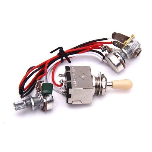 Gitarre Schaltung Wiring 3 Box Toggle Pickup Selector 3WBT/1V/1T/1J 2-500 K Pot