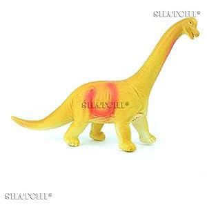 Gifts 4 All Occasions Limited SHATCHI-710 7001 - Figura de dinosaurio de goma para niños, modelo de juego táctil con sonido, multicolor