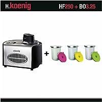 H. Koenig HF250 Sorbetière rafraîchissant et récipients