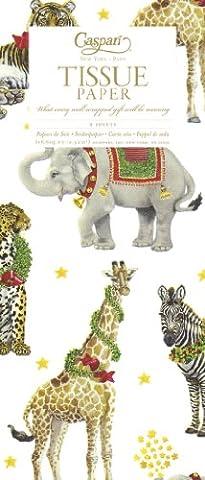 Caspari Wild Christmas Tissue Paper -