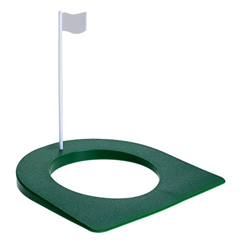 18 x 17,5 cm Indoor Golf Praxis-Putting-Cup Loch mit Flagge -