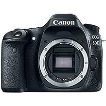 """Canon EOS 80D - Cámara réflex digital de 24.2 MP (pantalla táctil TFT de 3"""", 45 puntos AF tipo cruz f/5,6, Ampliación de zoom - 1,5x - 10x, WiFi) negro"""