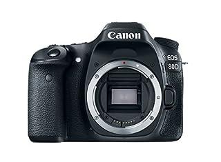 "Canon EOS 80D - Cámara réflex digital de 24.2 MP (pantalla táctil TFT de 3"", 45 puntos AF tipo cruz f/5,6, Ampliación de zoom - 1,5x - 10x, WiFi) negro (B01BYERR6A) | Amazon Products"
