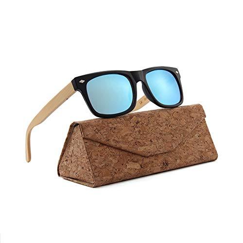 GSSTYJ UV400 handgefertigte Bambus Holz Sonnenbrillen/High Definition Vision Brillen/Ultraleichte dauerhafte Sonnenbrillen für Mann und Frau, als Geschenk für Freunde und Verwandte