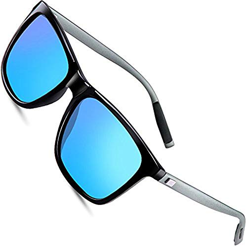 6b9da39f9f61fa wearPro Sunglasses Mens Retro Vintage Polarized Sun Glasses WP1003 (blue,  2.16)