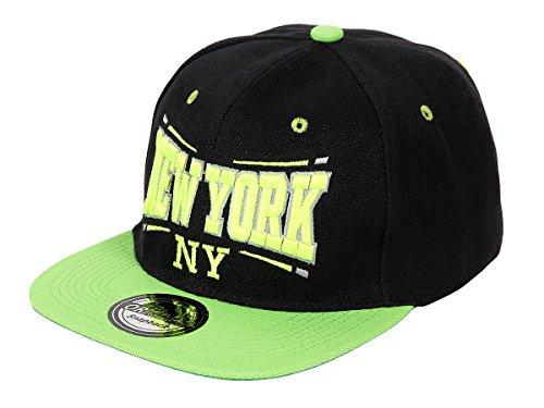 Snapback Basecap Yolo Hat Hip Hop Cap Schirmmütze Baseballcap Baseball Mütze Kappe, Farbe wählen:Cap-11 NY schwarz grün