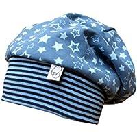 Beanie Mütze blau mit Sternen Ba