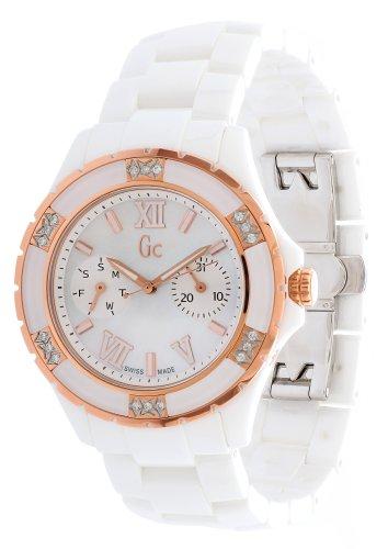 Guess x69116l1s - orologio da polso donna, acciaio inox, colore: bianco