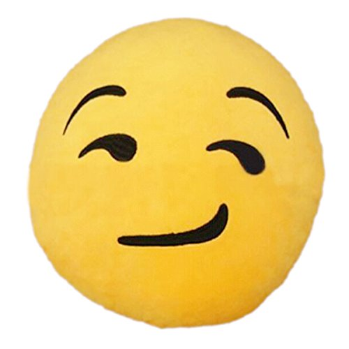 TOOGOO(R)Hot nuovo Emoji Show Off Emoticon Cuscino Rotondo casa cuscino
