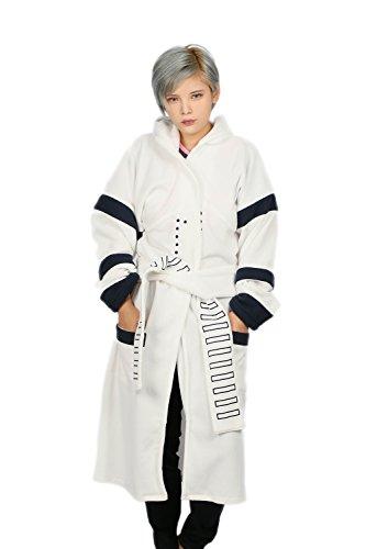 Cosplay Bane Kostüme (Soldat Kapuzen Bademantel Halloween Unisex Erwachsene Weiße Nachthemd Abendkleid Cosplay)