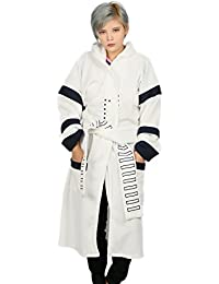 Soldat Capuche Peignoir Cosplay Costume Halloween Unisexe Adulte Blanc Nightgown