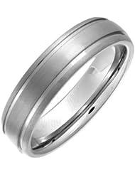 Theia Ring Court Matt gerillt 6 mm Titan