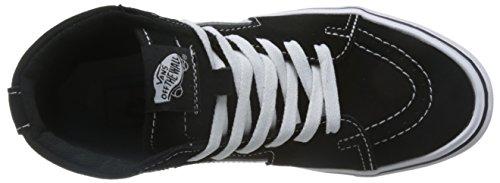 Vans Sk8-hi Lite Plus - Scarpe da Ginnastica Alte Unisex – Adulto, Nero (suede/canvas/black/white), 34.5 EU Schwarz