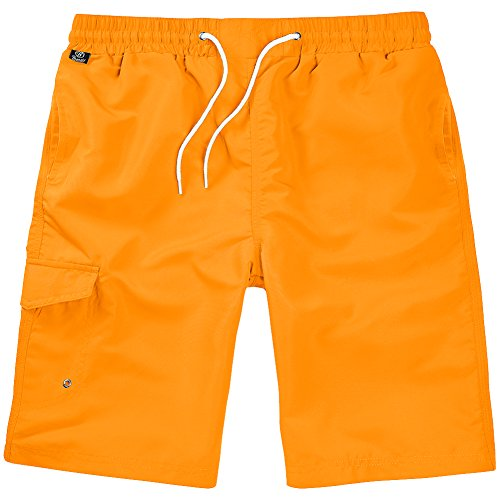 Brandit Uomo Costume da Bagno Orange Taglia L/XL