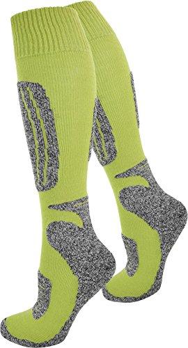 OARD Socken knie lang, Unisex, mit Spezial Polsterung Farbe N Gelb Größe 43/46 (Lange Gelbe Socken)