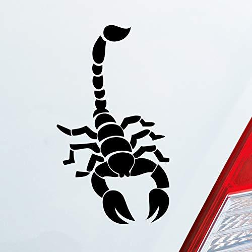 Auto Aufkleber in deiner Wunschfarbe Skorpion Krebs Motorrad Sternzeichen 15x8,5 cm Autoaufkleber Sticker Folie