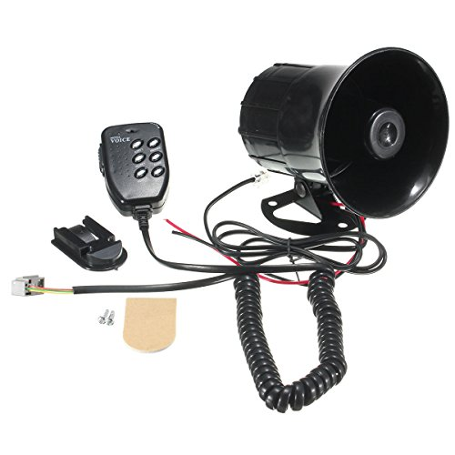 115dB Car Motorrad Megaphone Lautsprecher Audio 6 Sound Siren Horns with Mic