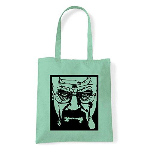 Art T-shirt, Borsa Shoulder Heisenberg, Shopper, Mare Menta