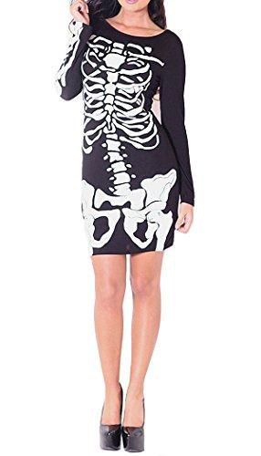 Unknown - Robe - Tunique - Manches Longues - Femme Multicolore - Noir/blanc