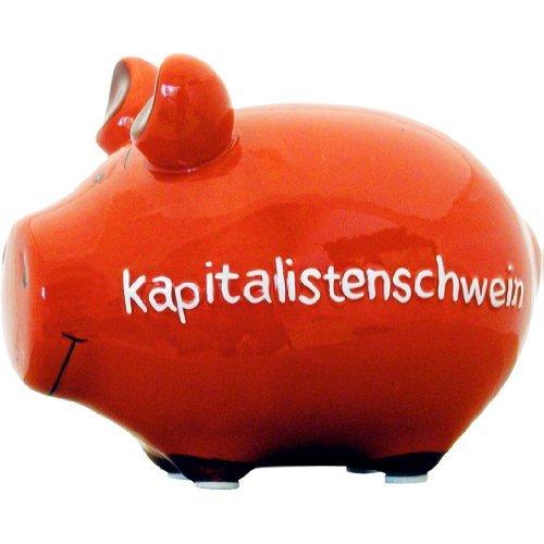 KCG Sparschwein Kapitalistenschwein rot