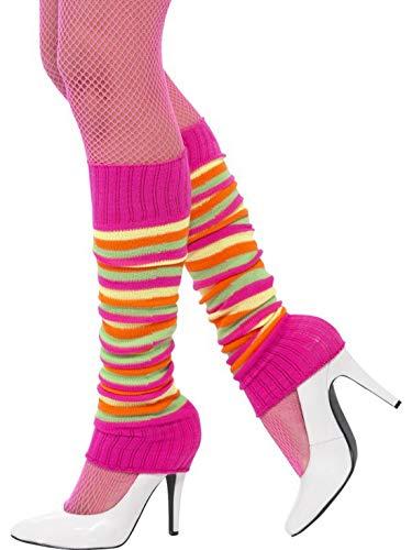 Luxuspiraten - Kostüm Accessoires Zubehör Damen Beinstulpen Leg Warmer Stulpen im 80er Jahre Fitness Neon Style, perfekt für Karneval, Fasching und Fastnacht, ()