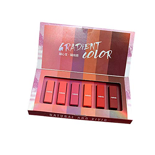 Jaminy6 Farben wasserdicht langlebig Matte Liquid Lipstick Schönheit Lippe Gloss, Sexy Wasserdichte Long Lasting Moisturizing Lippenstift
