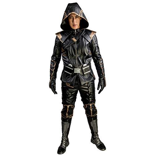 Wellgift Hawkeye Ronin Kostüm Endgame Clint Barton Cosplay Erwachsene Herren Ganzanzug Jacke & Hose & Gürtel Ninja Outfit Halloween Verkleiden (Hawkeye Cosplay Kostüme)