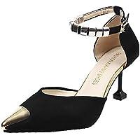 Sandalias Mujer Verano 2018 Casual �� Sandalias Casuales de Moda para Mujer Punta en Punta Tacones Altos Sandalias Tacones Finos Zapatos Sandalias Sandalias de Zapatos Individuales