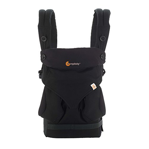 Ergobaby Babytrage Kollektion 360 (5.5 – 15 kg), Pure Black