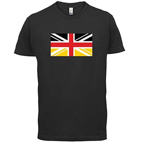 German Union Jack Flag - Herren T-Shirt - 13 Farben Schwarz