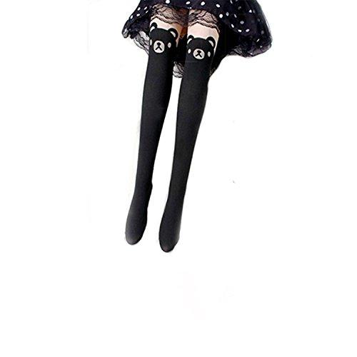 Niedlicher Teddybär-Muster Leggings Strumpfhosen Socken pantyhose - Niedliche Strumpfhose Strumpfwaren