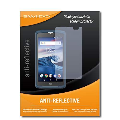 SWIDO Schutzfolie für Crosscall Core-X3 [2 Stück] Anti-Reflex MATT Entspiegelnd, Hoher Härtegrad, Schutz vor Kratzer/Bildschirmschutz, Bildschirmschutzfolie, Panzerglas-Folie