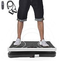 ISE Plateforme Vibrante pour Musculation et Perte de Poids, télécommande et Bandes élastiques