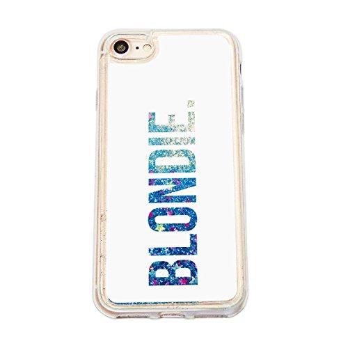 finoo | Iphone 6 Plus / 6S Plus Flüssige Liquid Blaue Glitzer Bling Bling Handy-Hülle | Rundum Silikon Schutz-hülle + Muster | Weicher TPU Bumper Case Cover | Elefanten Schaukel Hase Brownie White