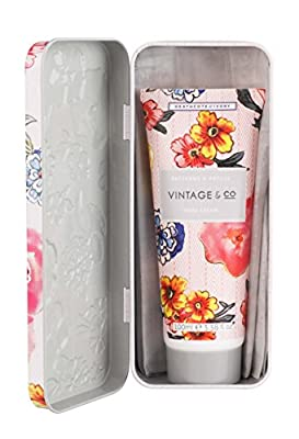 Vintage & Co Patterns and Petals Hand Cream in Tin, 100 ml