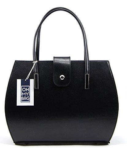 OH MY BAG Sac à main cuir femme porté main Modèle Croisette Nouvelle collection Noir