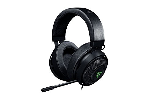 Razer Kraken 7.1 V2 Chroma (Oval) Cuffie da Gioco Analogiche Over-Ear, Gaming Headset per PC , Driver Audio da 50 mm, Nero