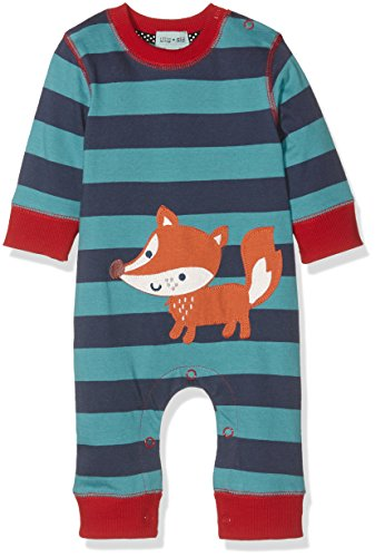 Lilly and Sid Baby-Jungen Spieler Mr Fox Applique Playsuit, Mehrfarbig, Gr. 6-12 Monate