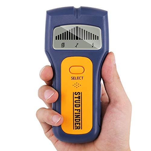 Ortungsgerät, GLTECK 3 IN 1 Multifunktions Wand Scanner Detektor Stud finder Leitungssucher für Stromleitung Holz Metall mit Großer LCD Hintergrundbeleuchtung