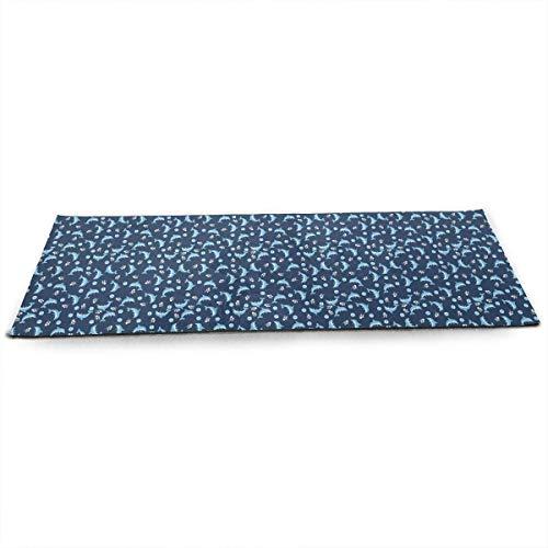 QIAOJIE Yoga Mats Dolphins and Balls Yoga Mat Print Pilates Floor Exercises