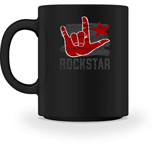 Generic Rockstar Rock'n'Roll Hand - Pommesgabel - Schlichtes Und Witziges Design - Tasse